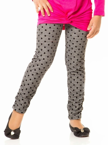 Deux Par Deux Must Have Polka Dot Leggings