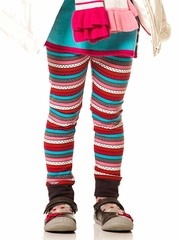 Deux Par Deux Princess Du Nord Striped Leggings