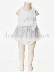 Deux Par Deux White Tutu Romper Dress