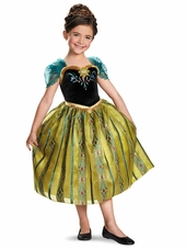 Disney Frozen Anna Coronation Gown Deluxe