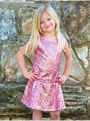 Dolls & Divas Alegra Pink Swirl Sequins Dress