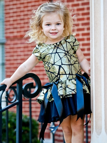 Dolls & Divas Black & Gold Chloe Dress
