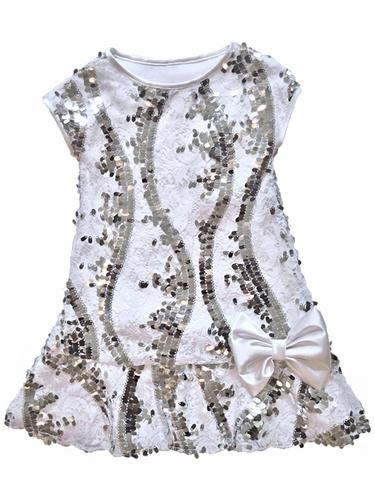 Dolls & Divas Couture Tyler White Lace Sequins Dress