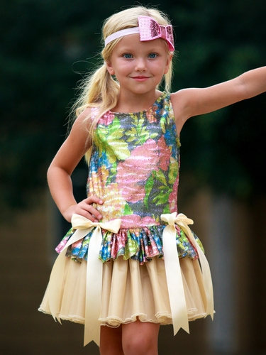 Dolls & Divas Flower Sequin Chloe Dress