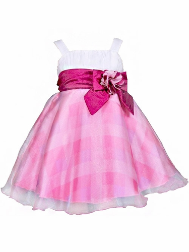 Donita Pink Checkered Dress
