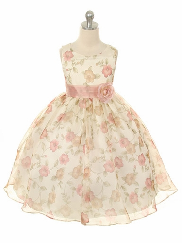 Dusty Rose Floral Dress