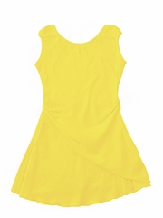 Eliane et Lena Faune Yellow Semi Cap Sleeve Dress