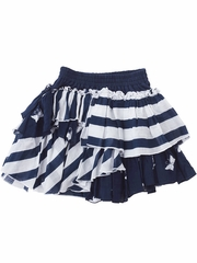 Eliane et Lena Fudji Navy Striped Skirt w/ Butterflies
