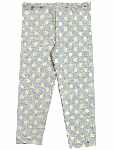 Everbloom Grey & Gold Leggings