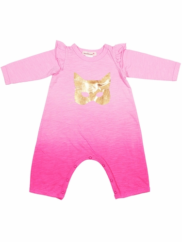Everbloom Pink & Gold Cat Mask Romper
