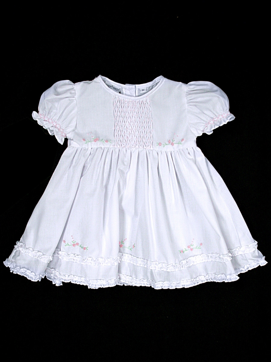 Feltman Brothers White Pink Infant Midgie Dress W Panty