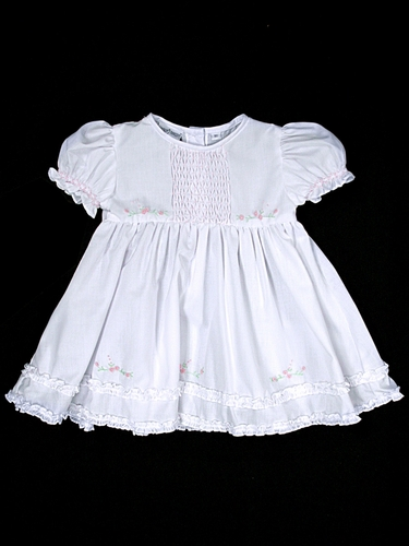 Feltman Brothers White/Pink Infant Midgie Dress w/ Panty