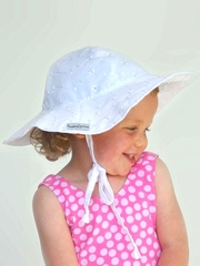 Flap Happy White Eyelet Floppy Hat