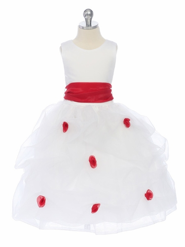 Forever Yours Red Dotted Rose Dress