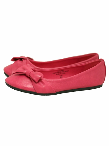 Fuchsia Childrens Flat Shoes w/ Bow
