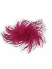 Fuchsia Ostrich Feather Clip