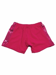 Fuchsia Sequin Shorts