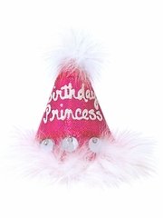 Fuchsia Sequins 'Birthday Princess' Party Hat