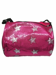 Fuchsia Star Duffel Bag