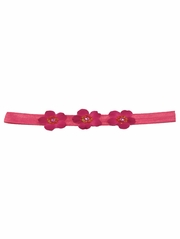 Fuchsia Three Flower Infant Headband