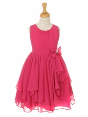 Fuchsia Yoryu Chiffon Dress