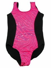 Fuchsia Zebra Metallic Leotard