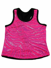 Fuchsia Zebra Metallic Top
