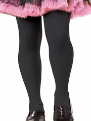 Girls Black Opaque Tights