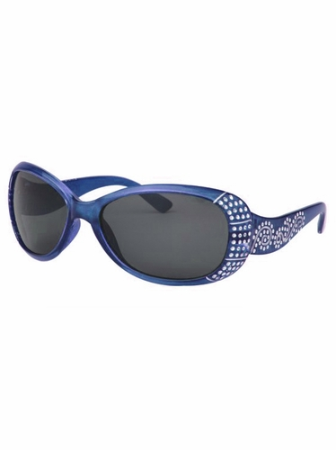 Girls Blue Sunglasses w/ Gems