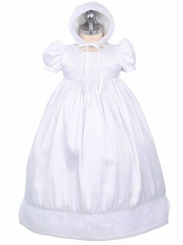 Girls Christening 2-Piece Taffeta Poly Dupioni Set