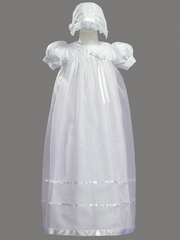 Girls Christening 3 Piece Organza Dress