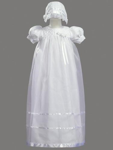 Girls Christening 2 Piece Organza Gown