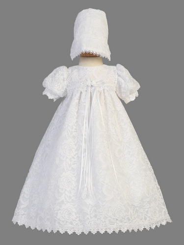 Girls Christening Lace Gown