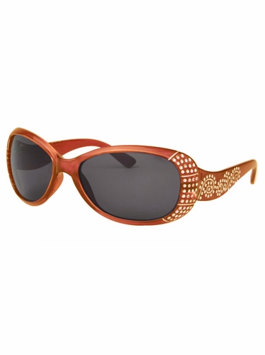 Girls Orange Sunglasses w/ Gems