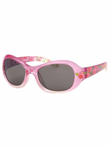 Girls Pink Flower Print Sunglasses