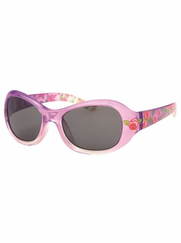 Girls Purple Flower Print Sunglasses