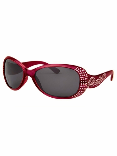 Girls Red Sunglasses w/ Gems