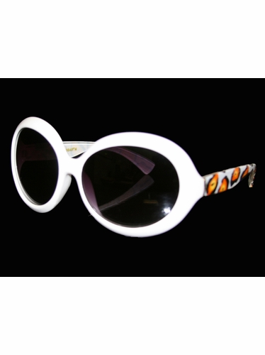 Girls White Animal Print Sunglasses