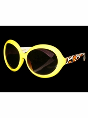 Girls Yellow Animal Print Sunglasses