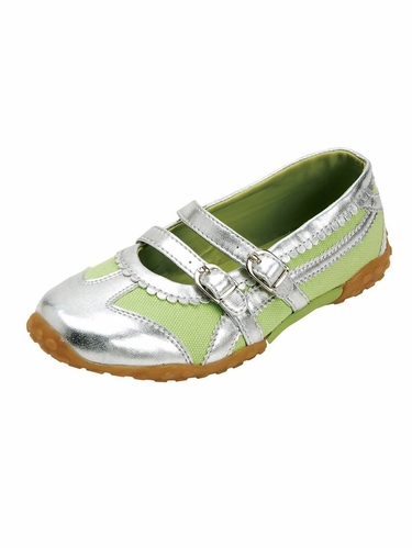 Green Double Strap Shoes