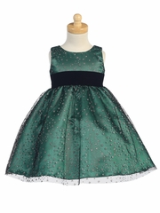 Green Glitter Tulle Holiday Dress