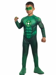 Green Lantern Hal Jordan w/ Muscle Chest Costume