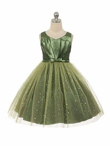 Green Sparkly Tulle Dress