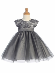 Gray Floral Tulle Bodice w/ Tulle Skirt