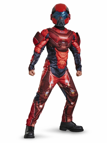 Halo Red Spartan Classic Muscle Costume