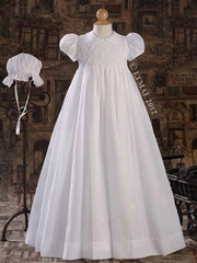 Hand Smocked 32� Heirloom Christening Gown