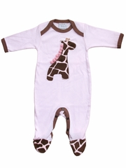 Haute Baby Jungle Love Giraffe Footie