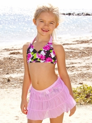 Hello Kitty 3PC Rose Bikini Set w/ Cover-Up