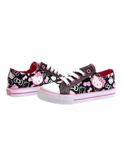 Hello Kitty Black Canvas Shoes