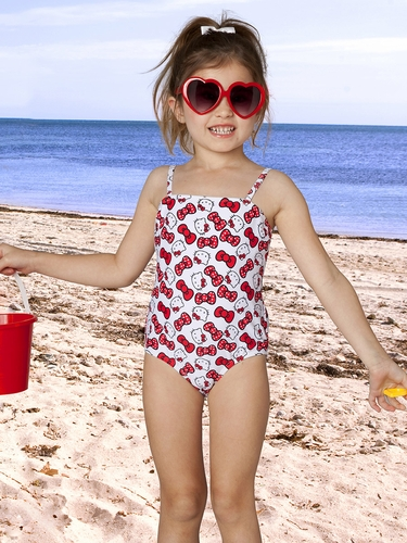 Hello Kitty Bows 1PC Swimsuit